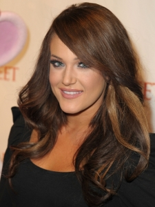 Lacey Schwimmer Brown Hair with Caramel Blonde