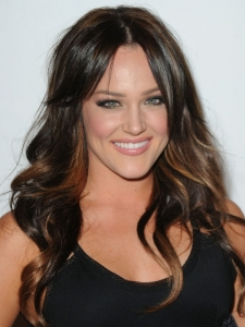 Lacey Schwimmer Hair with Golden Highlights