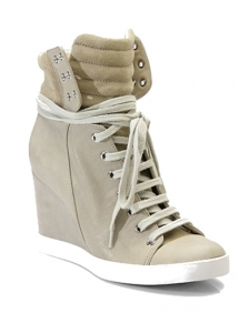 Chloe Lace-Up Wedge Sneakers