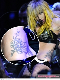 Lady Gaga's Roses and Vines Hip Tattoo
