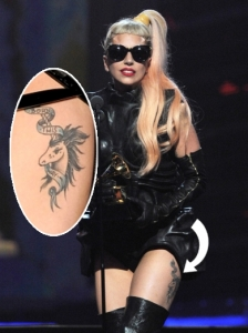 Lady Gaga Unicorn Born This Way Thigh Tattoo