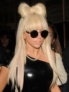 Lady Gaga's Hairstyle with Bow