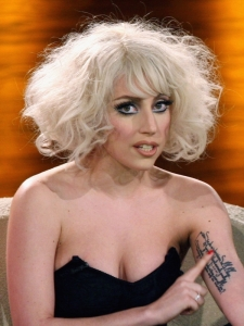 Lady Gaga Messy Bob Hairstyle
