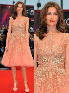 Laetitia Casta in Elie Saab Couture Gown
