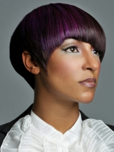 Glam Purple Hair Highlights