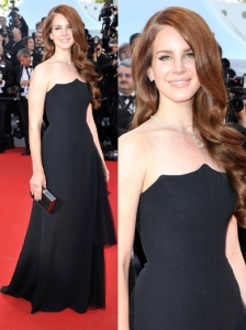 Lana Del Rey in Alberta Ferretti Black Dress
