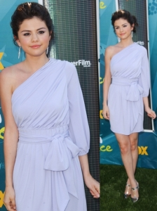 Selena Gomez in Baby Phat Lavender Dress