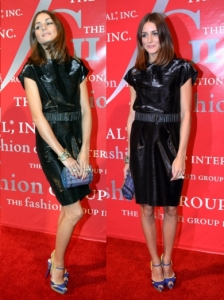 Olivia Palermo in Ports 1961 Black Belted Dress