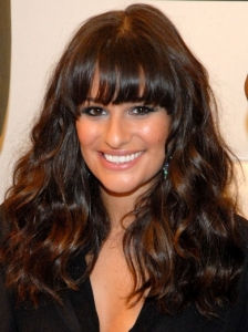 Lea Michele Wavy Hair with Bangs