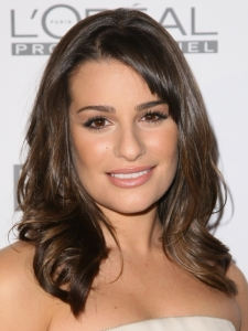 Lea Michele Shoulder Length Hairstyle