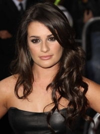 Lea Michele Sultry Curls Hairstyle
