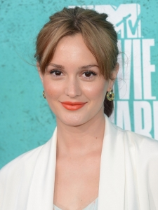 Leighton Meester's Pony with Parted Bangs