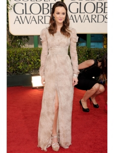 Leighton Meester in Burberry Prorsum