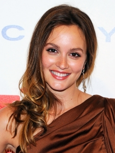 Leighton Meester Golden Hair Highlights