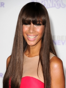 Leona Lewis New Hairstyle with Fringe