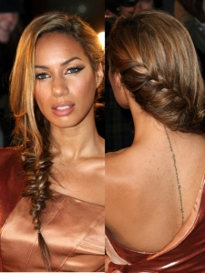 Leona Lewis Side Fishtail Braid Hairstyle