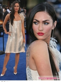 Megan Fox in Collette Dinningan Dress