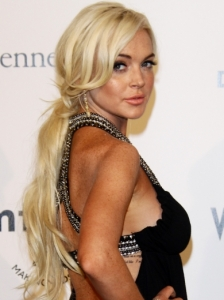 Lindsay Lohan Low Ponytail Hairstyle