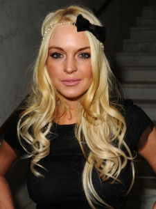 Lindsay Lohan Blonde Curls with Headband