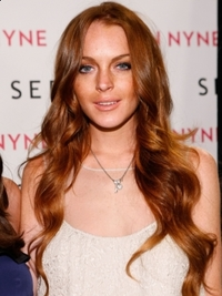 Lindsay Lohan Loose Curls Hairstyle