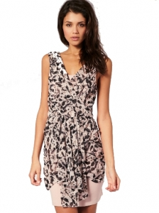 Lipsy Draped Leopard Print Dress