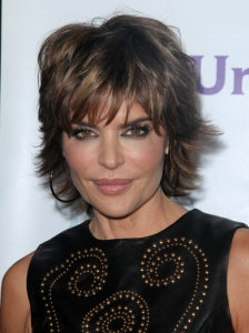 Lisa Rinna Short Shag Hairstyle 2012
