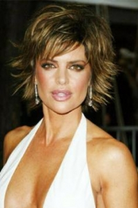 Lisa Rinna with Flicked Hairstyle