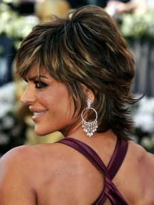 Lisa Rinna's Shag Haircut Side View