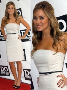 Lauren Conrad in White Sheath Dress