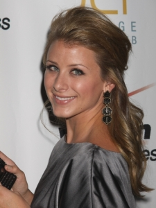 Lo Bosworth Half Updo Hairstyle