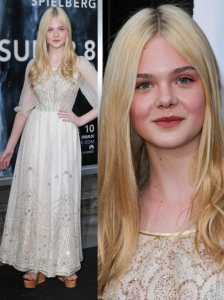 Elle Fanning in Vintage Dress
