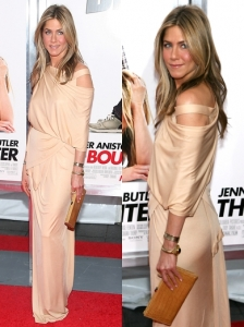 Jennifer Aniston in Donna Karan Asymmetrical Gown