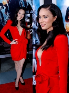 Megan Fox in Giorgio Armani Prive Cocktail Dress