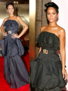 Rihanna in Monique Lhuillier Gown