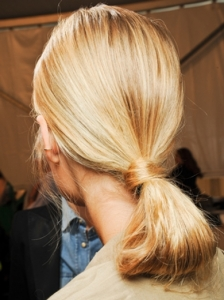 Looped Ponytail at Carolina Herrera