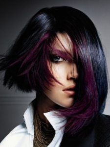 Purple Glam Hair Style