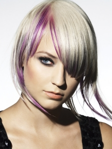 Dapper Purple Hair Highlights