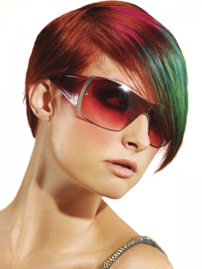 Party Rainbow Hair Highlights