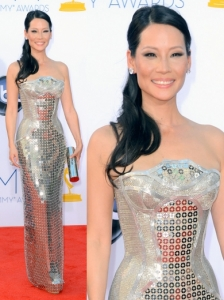 Lucy Liu in Atelier Versace Dress