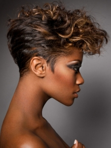 Short Black Curly Haircut