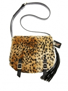 Wildcat Flap Faux Fur Crossbody Bag