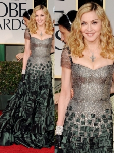 Madonna in Reem Acra at 2012 Golden Globes