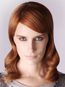 Lovely Medium Red Hair Style