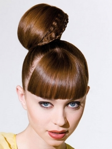Cute Top Knot Hair Style
