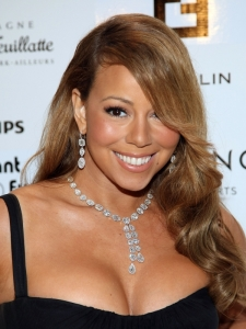 Mariah Carey Sideswept Curly Hairstyle