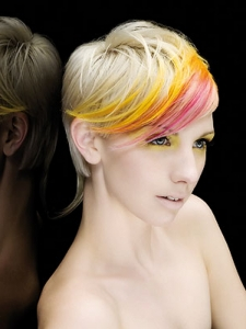 Chic Rainbow Hair Highlights