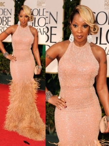 Mary J Blige in Michael Kors at 2012 Golden Globes