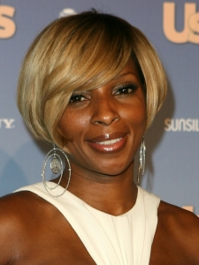 Mary J Blige's Short Bob Haircut