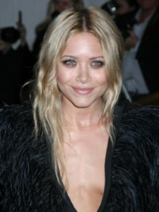 Mary-Kate Olsen Platinum Blonde Hairstyle