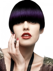 Short Close-Cropped Purple Hair